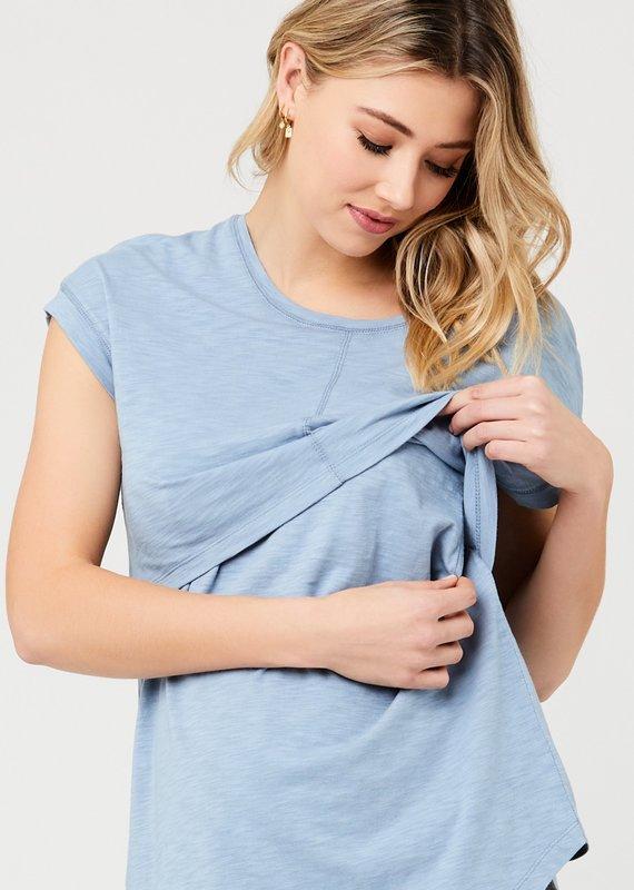 Ripe Richie T-Shirt maternité allaitement Petrol
