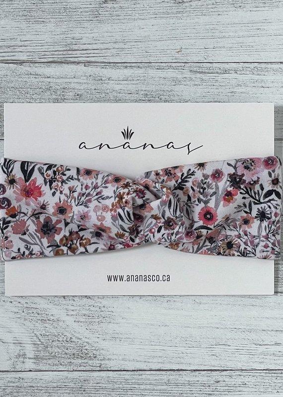 Ananas Co Bandeau croisé 0-2 ans mini fleuri
