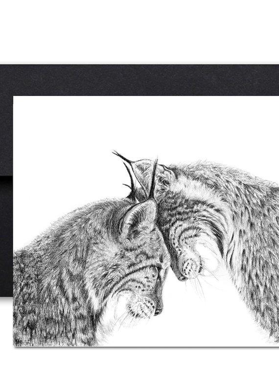 Le Nid Carte de souhait Lynx