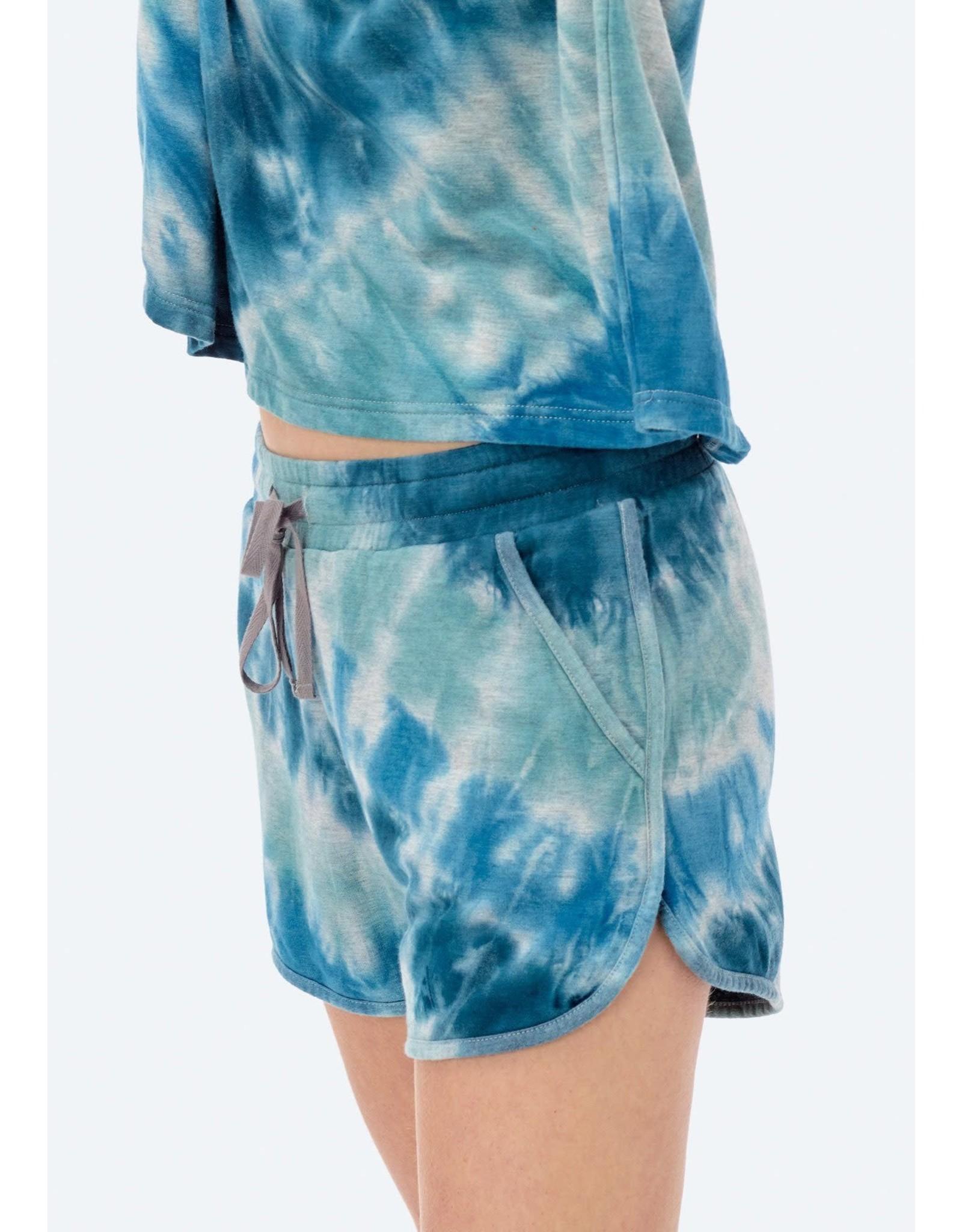 Love Stitch Naia Tie Dye Fleece Shorts