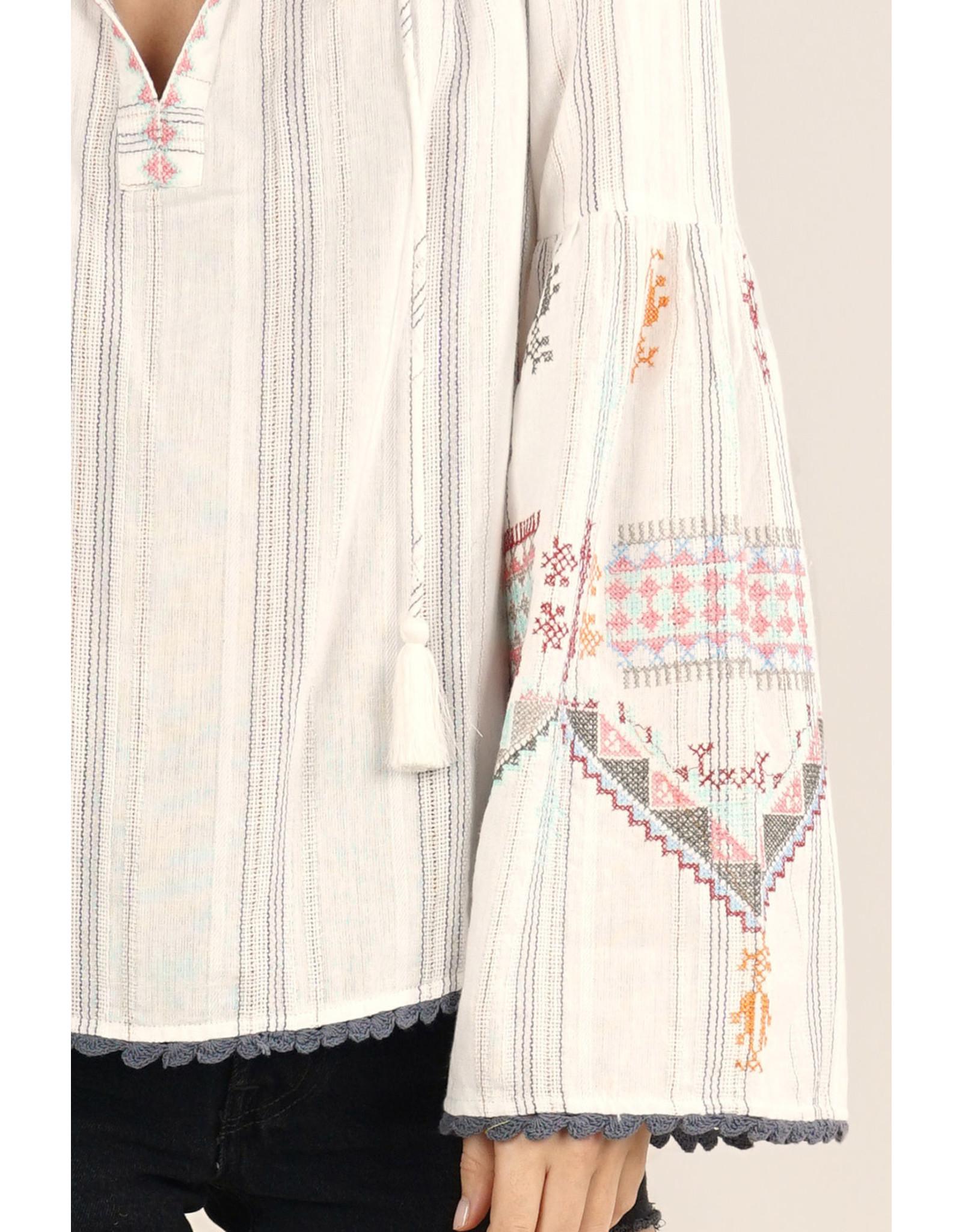 Love Stitch Danika Embroidered Top