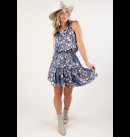 Love Stitch Flirty Floral Smock Dress