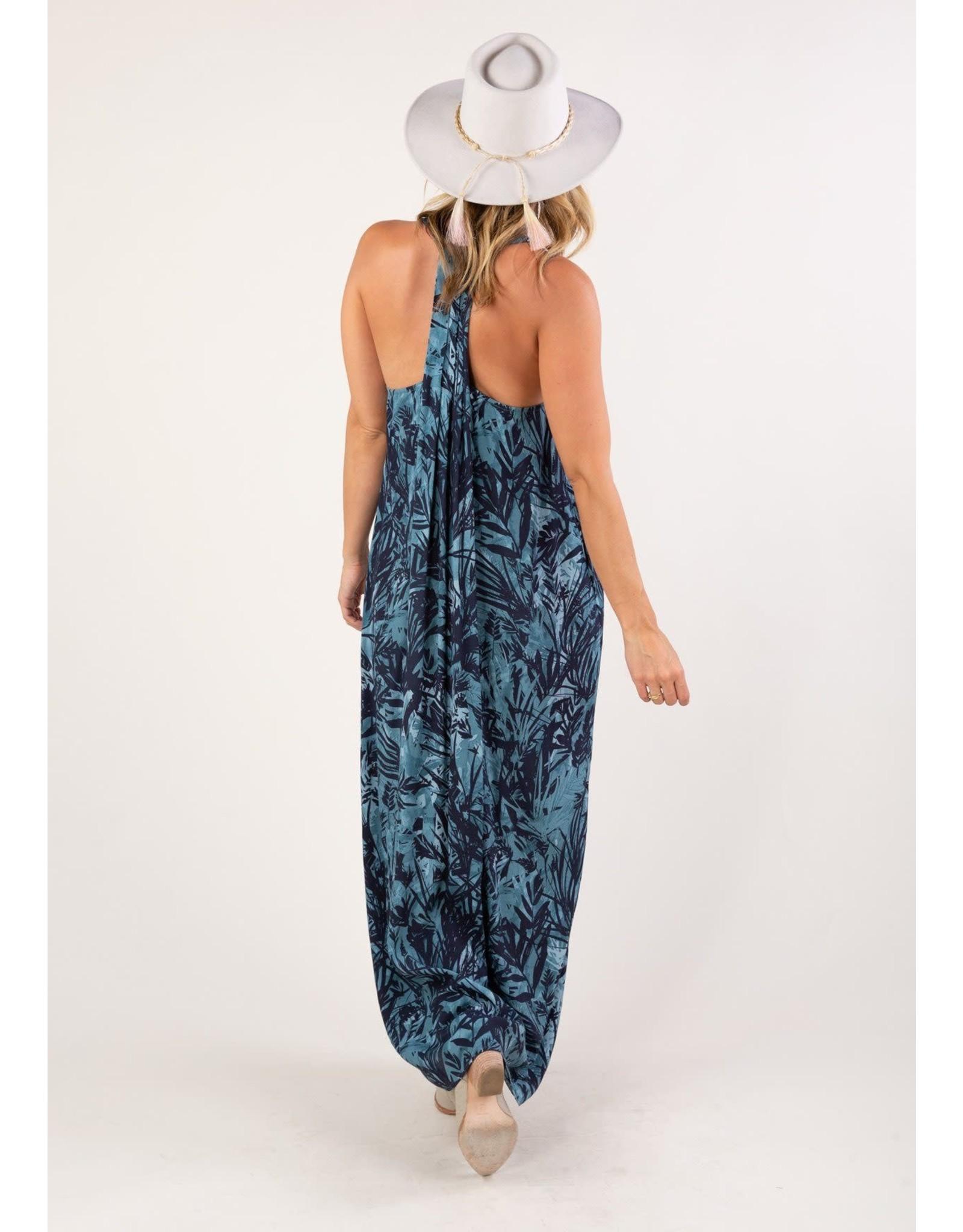 Love Stitch Tropics at Midnight Maxi Dress