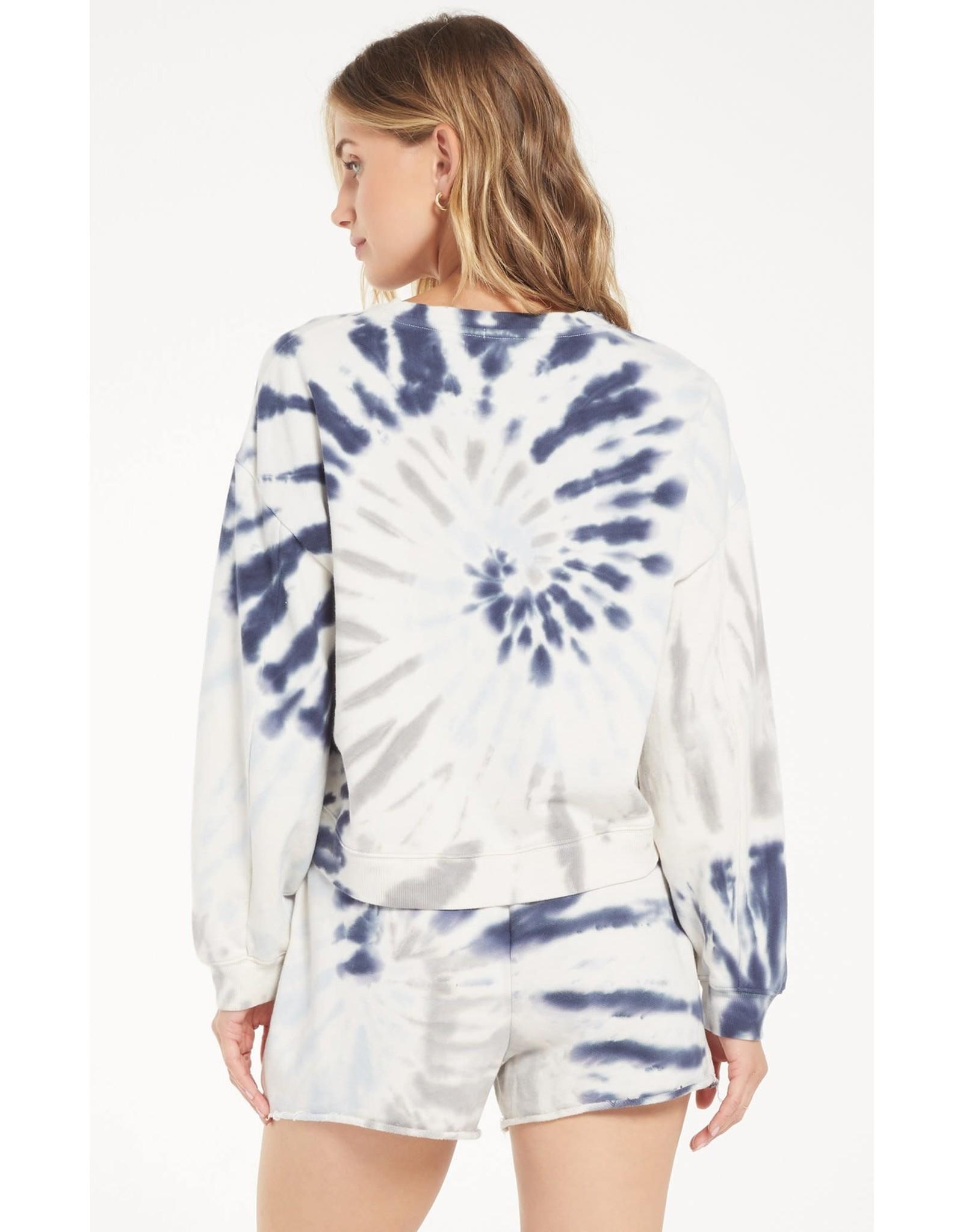 Z Supply The Multi Color Tie Dye Pullover