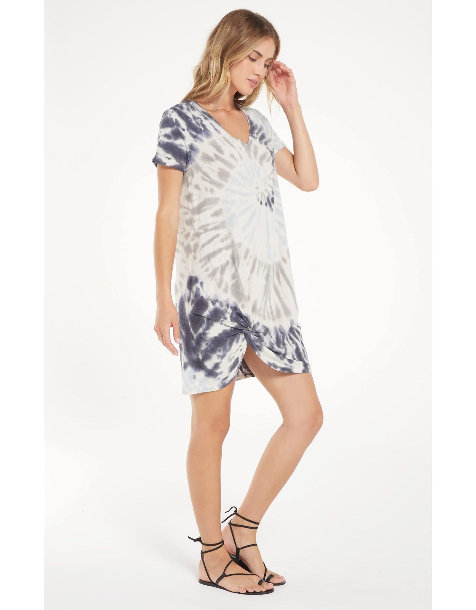 Z Supply Tie Dye Side Knot Dress