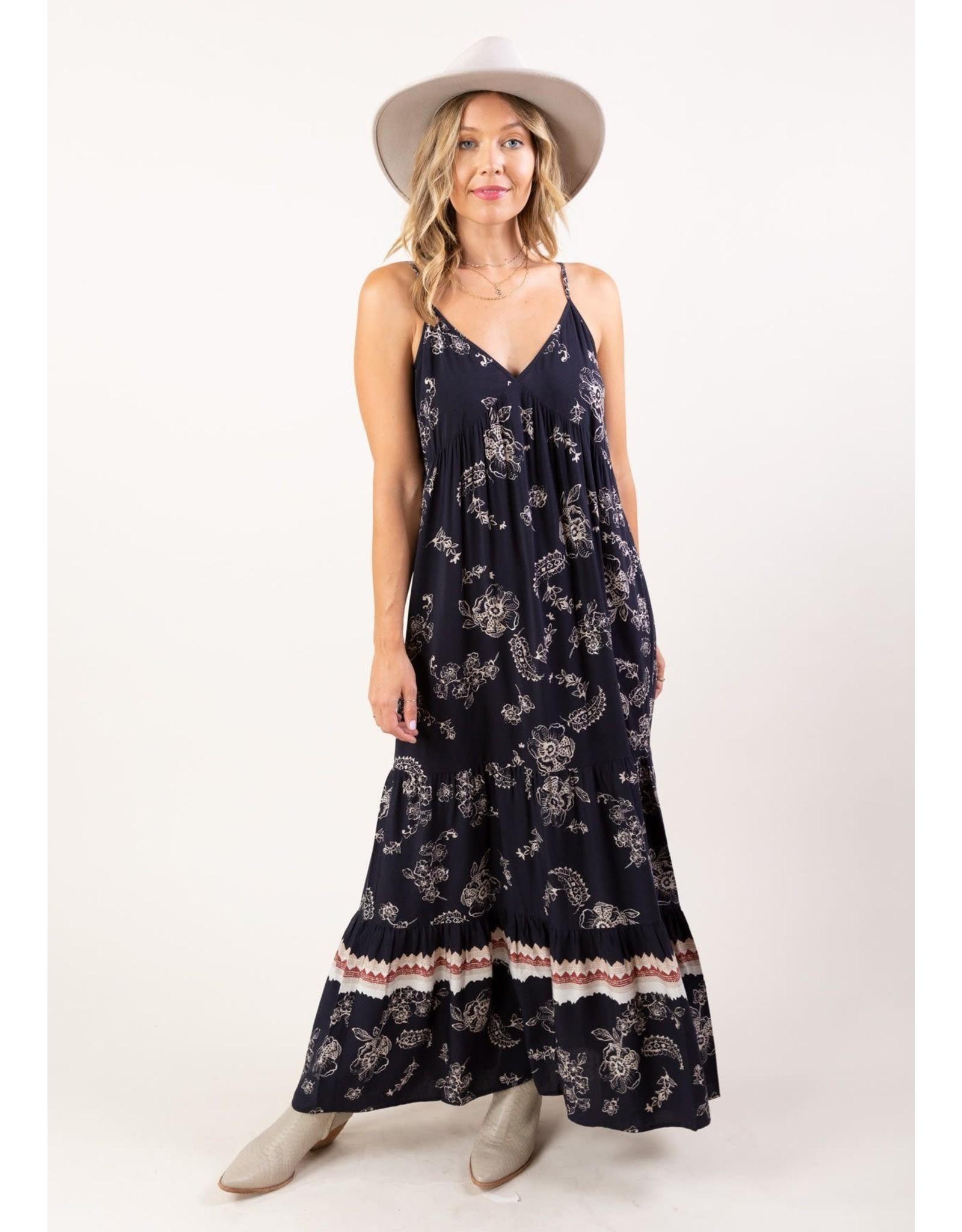 Love Stitch Twirl Me Floral Maxi Dress