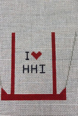 CBK Needlepoint I love HHI Mini Tote
