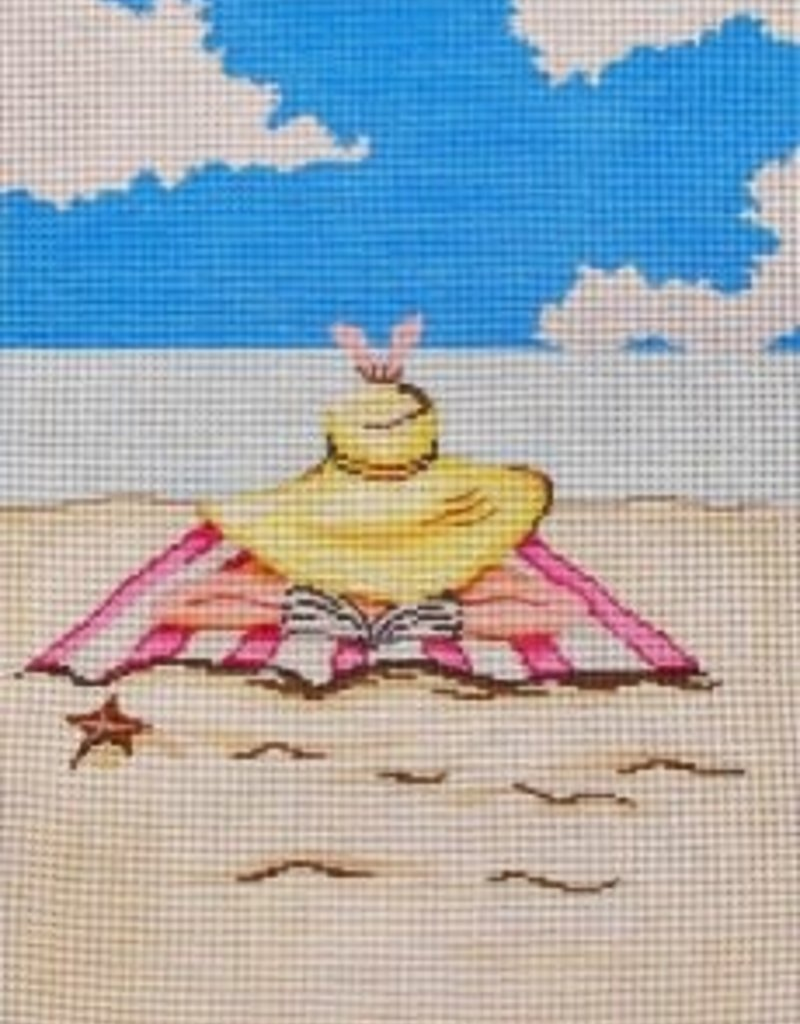 Girl Reading on the Beach 20007 Rose Hill Designs/ Patti Man