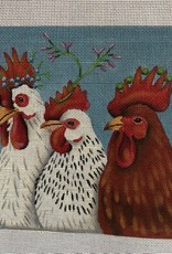 VS 297 3 Roosters  Melissa Shirley Designs