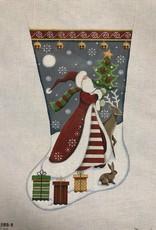 1388a FolK Santa Stocking RW