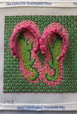OM 243 Green Gator Flip Flops