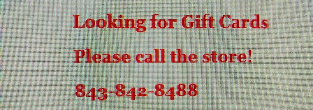 Gift Card Information
