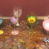 April Paint Night Wine Glasses 4/15/2020