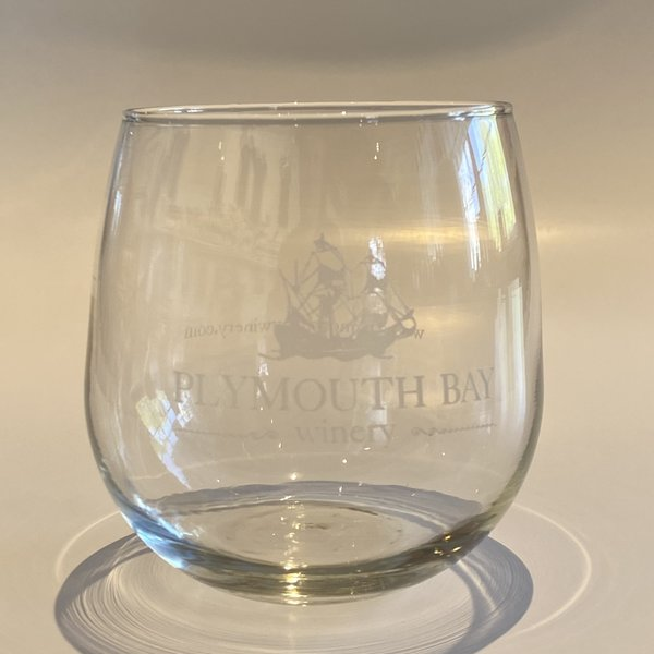 Plymouth Bay Winery Wine Glass:  Stemless, Glass, PBW