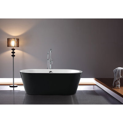 Serinity Black Freestanding Bathtub Jade