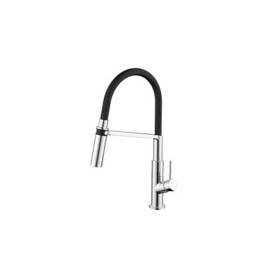Chrome / black kitchen tap with magnet 6810