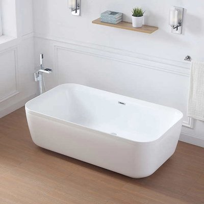 emily Emily 67'' Freestanding Bathtub Ove