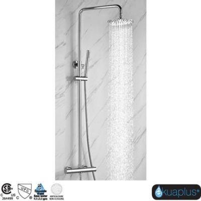 irene Elyn collection chrome thermostatic shower column