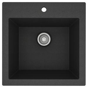 MB102GR Évier granite noir MB101GR 23''x20'' simple
