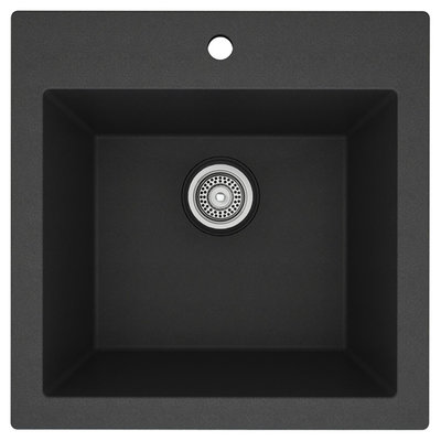 MB102GR Black granite sink MB101GR 23``x20 '' single