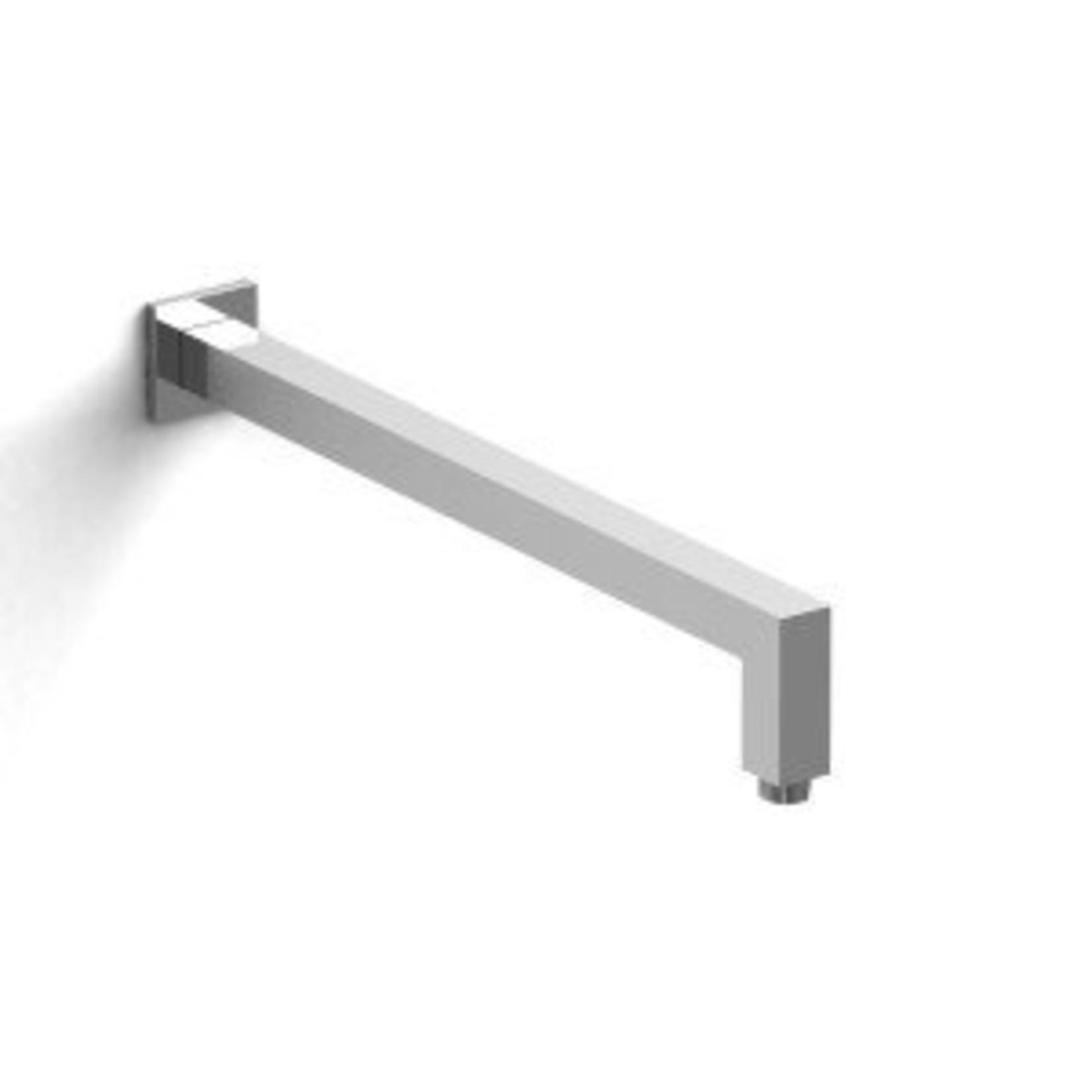 Chrome square shower arm