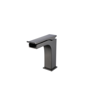 CDC Short Matte Black Waterfall Lavatory Faucet 77195