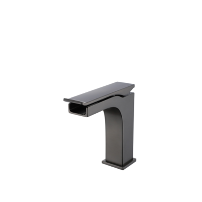 CDC Lavatory faucet  short matte black waterfall om-7195
