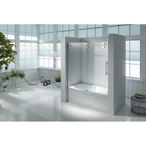 id Porte de douche sur bain Uranus inclus panneau latéral