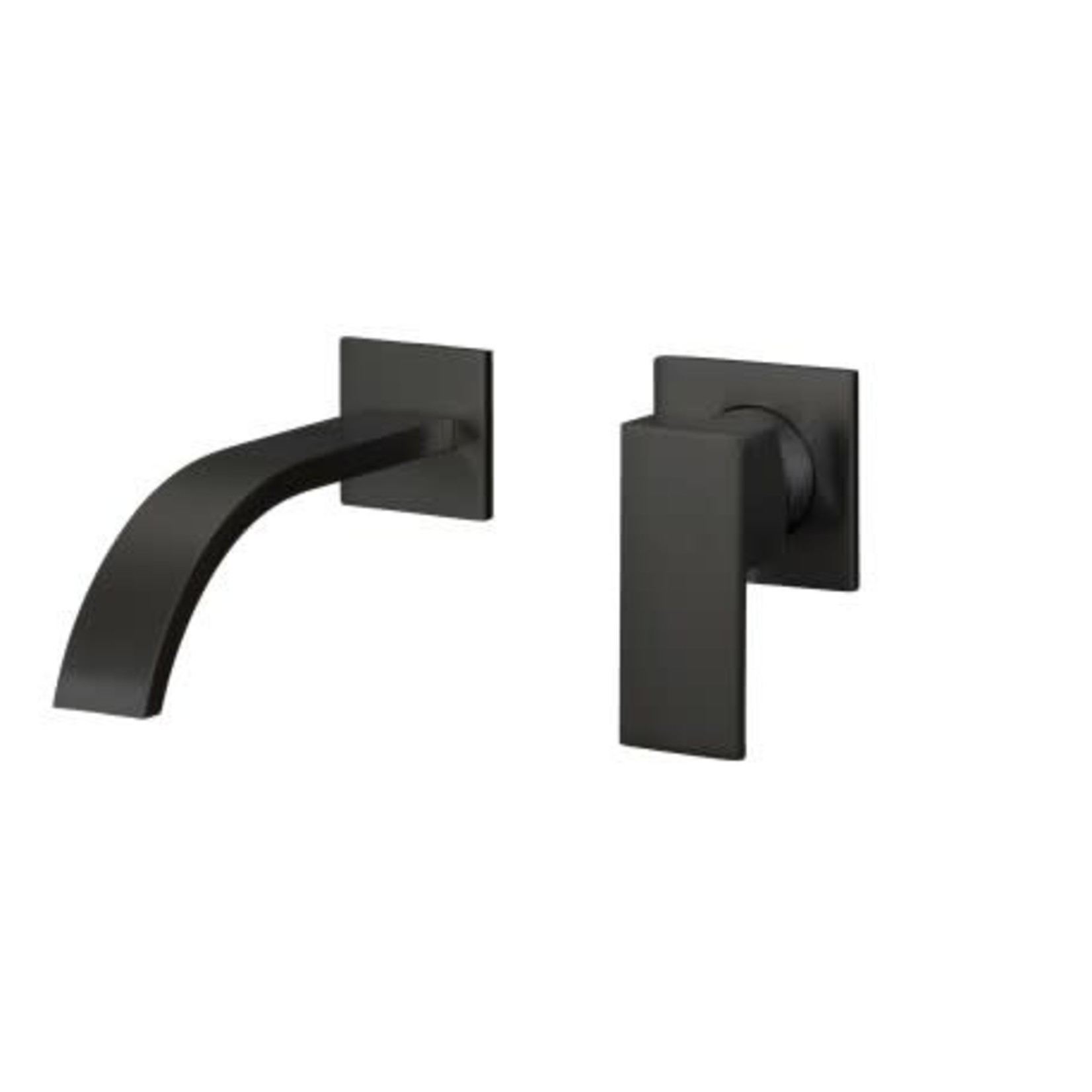 Matte Black Wall Mounted Lavatory Faucet 607b