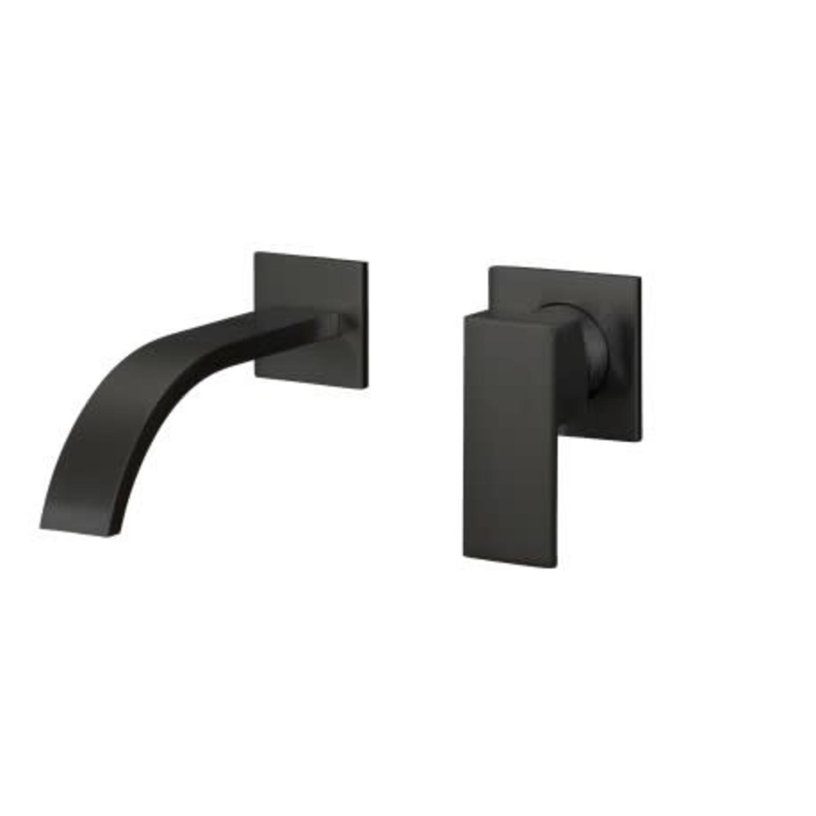 Robinet de lavabo mural Noir Mat 607-11