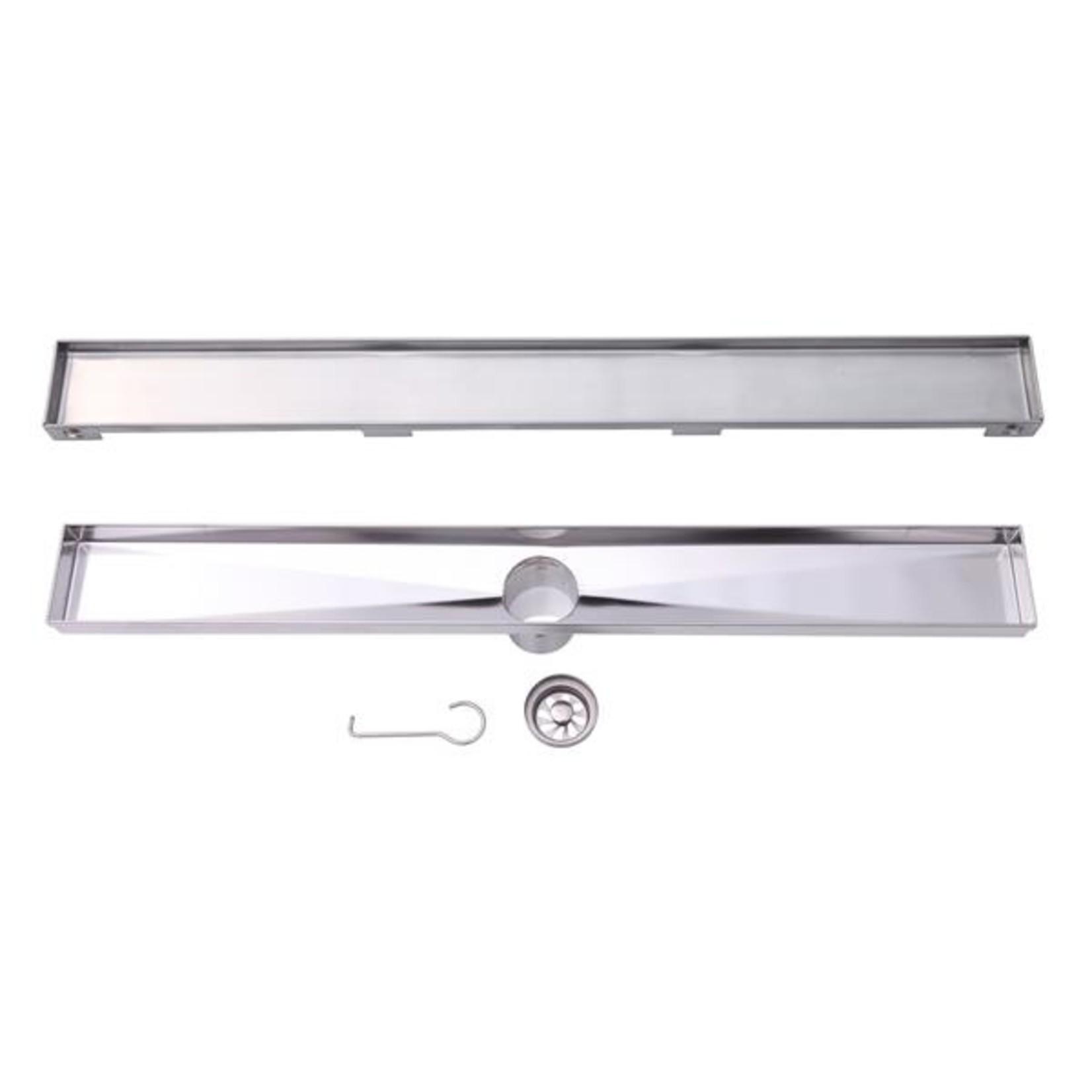 Drain lineaire en acier inoxidable model LVA