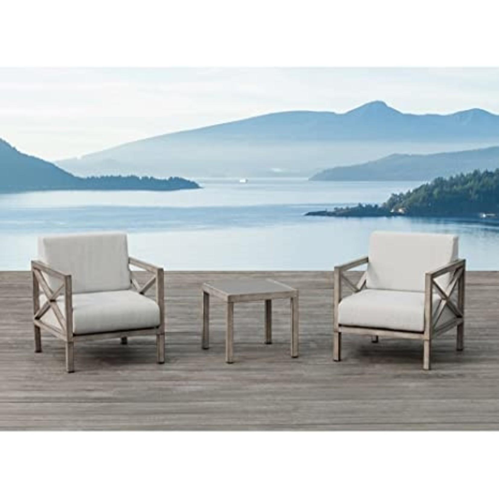 Patio Pasadena 3 mxc alum / sunbrella Ove (Chairs only 2)