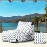 Paola Chevrons Lounge Chair