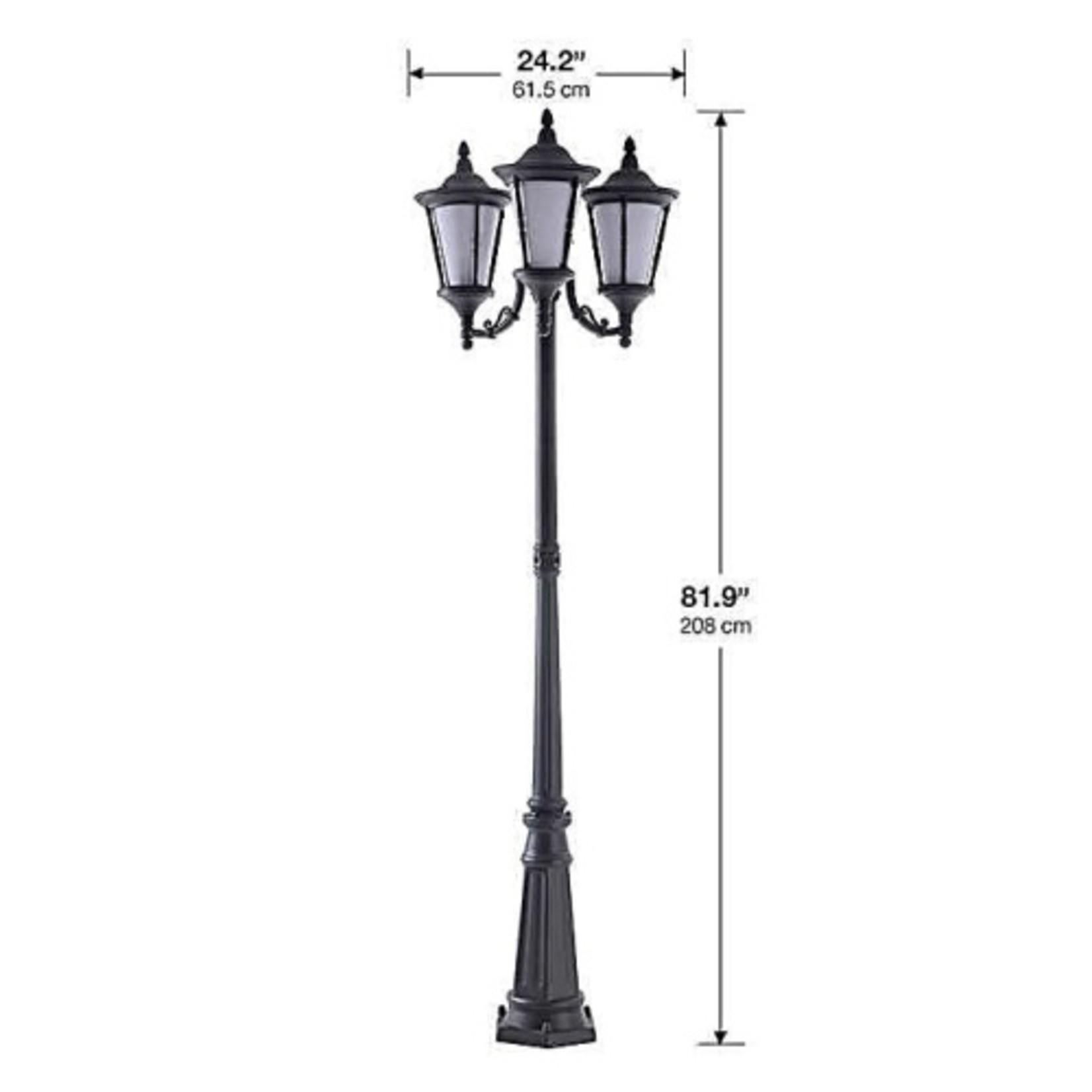 Lampadaire Norton à 3 lanternes DEL gris