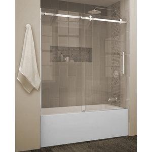 Bath screen Quartz Shield Chrome