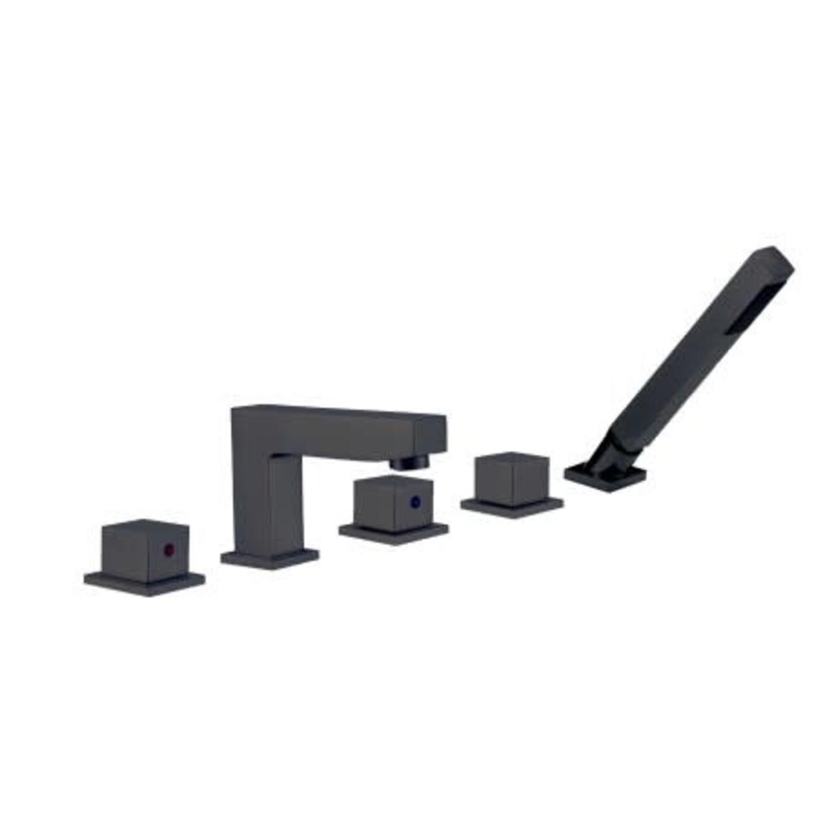 Robinet de bain romain 510-11 Noir Mat