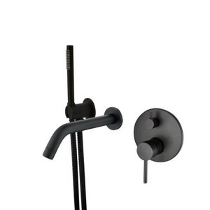 Wall-mounted tub faucet 62852-11 Matte Black finish