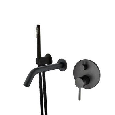 Wall-mounted tub faucet 62852-11 Matte Black finish