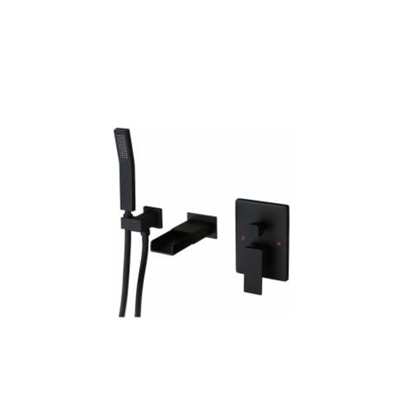 Wall-mounted tub faucet 141-11 matte black finish