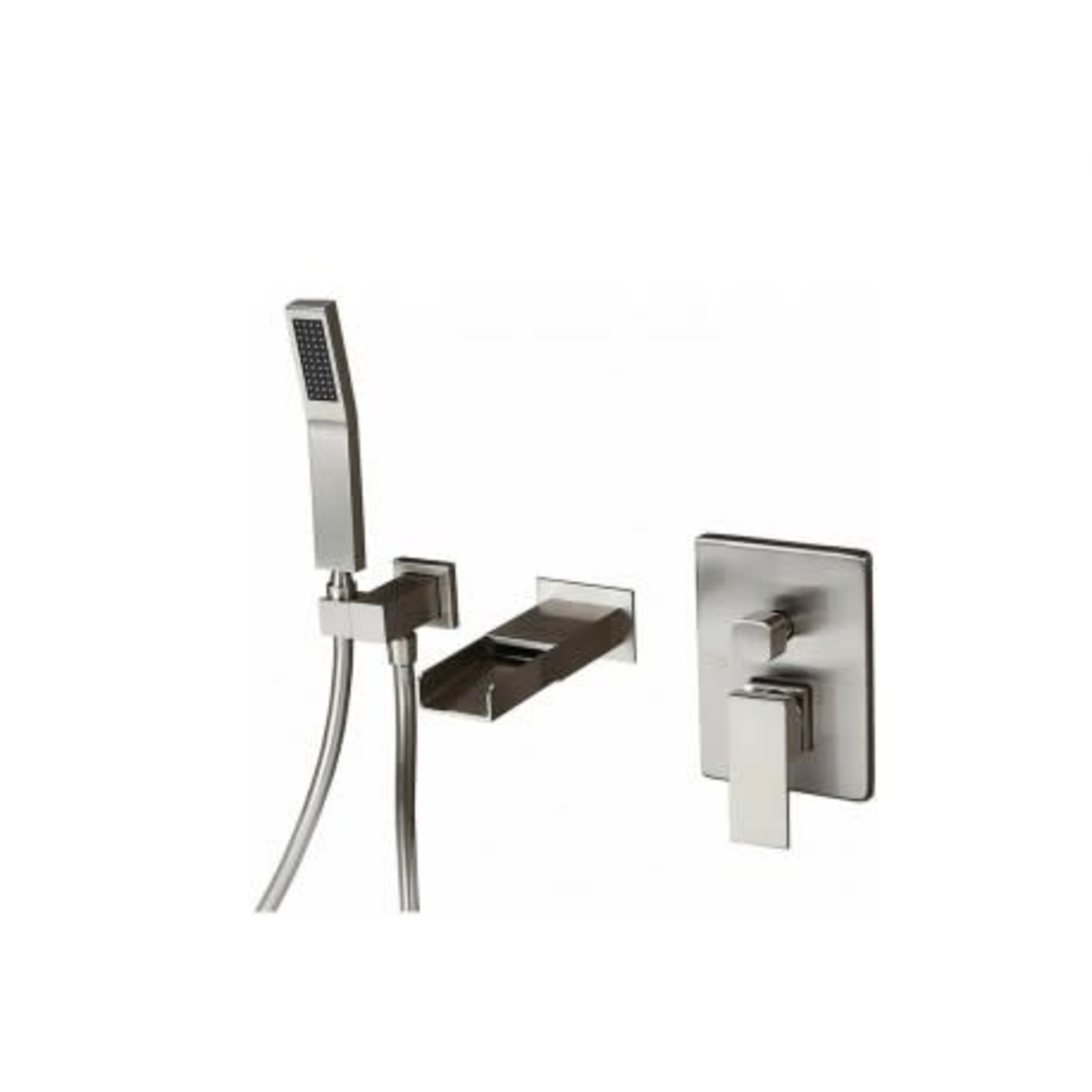 Wall mounted tub faucet 141-10 Brushed finish