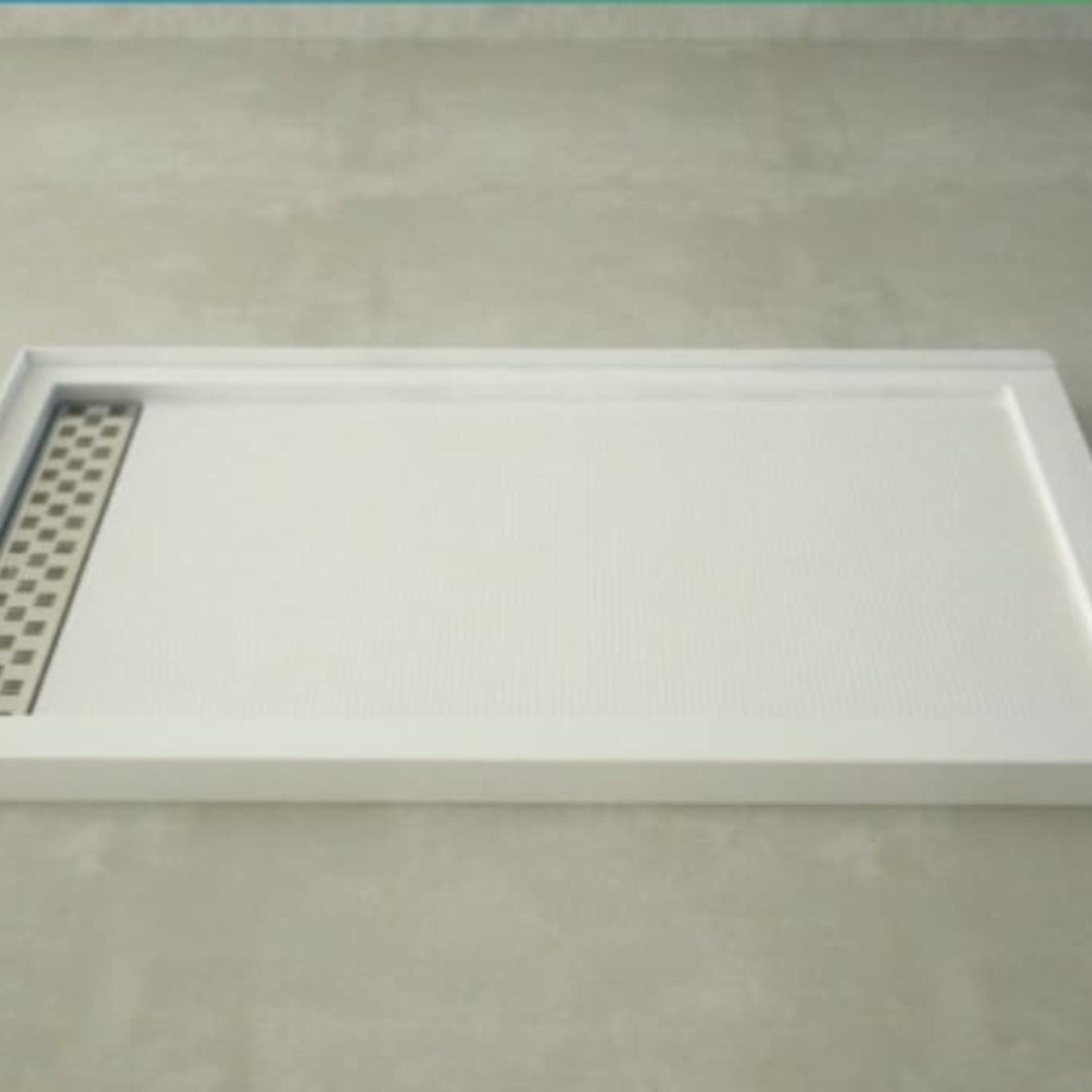 Base de douche 60'' x 36'' drain linéaire droit CDC7808R