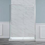 Shower door Chrome 60 '' Eilat Ove