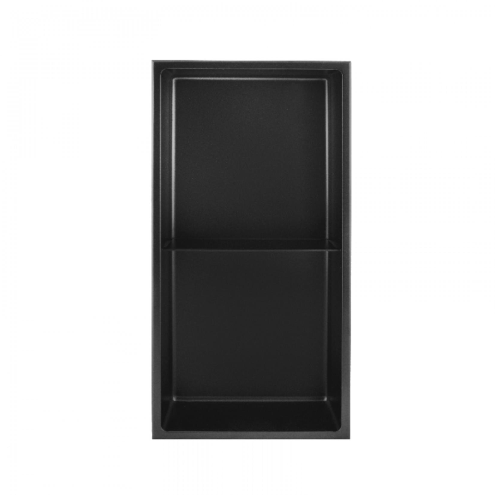 Wall niche with shelf 24x12 Black Nautika NI2412TB