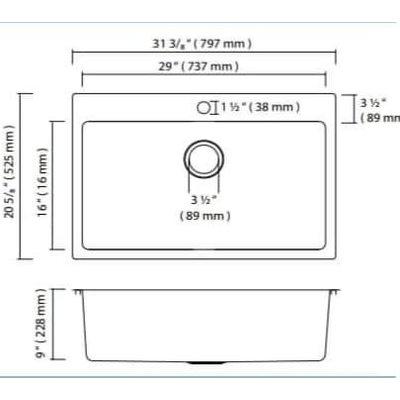 ZR1030 kitchen sink