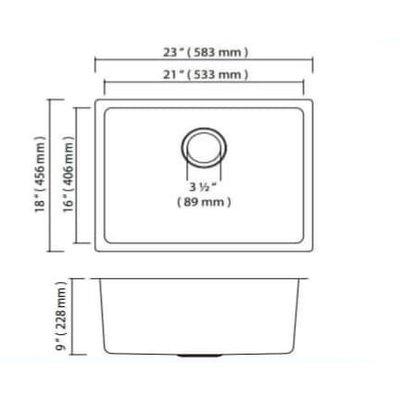 Kitchen sink ZR1040U 583x456x228mm