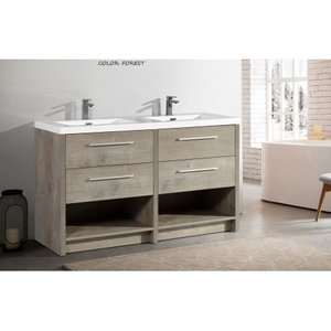 "Forest Melamine 59 ""double vanity"