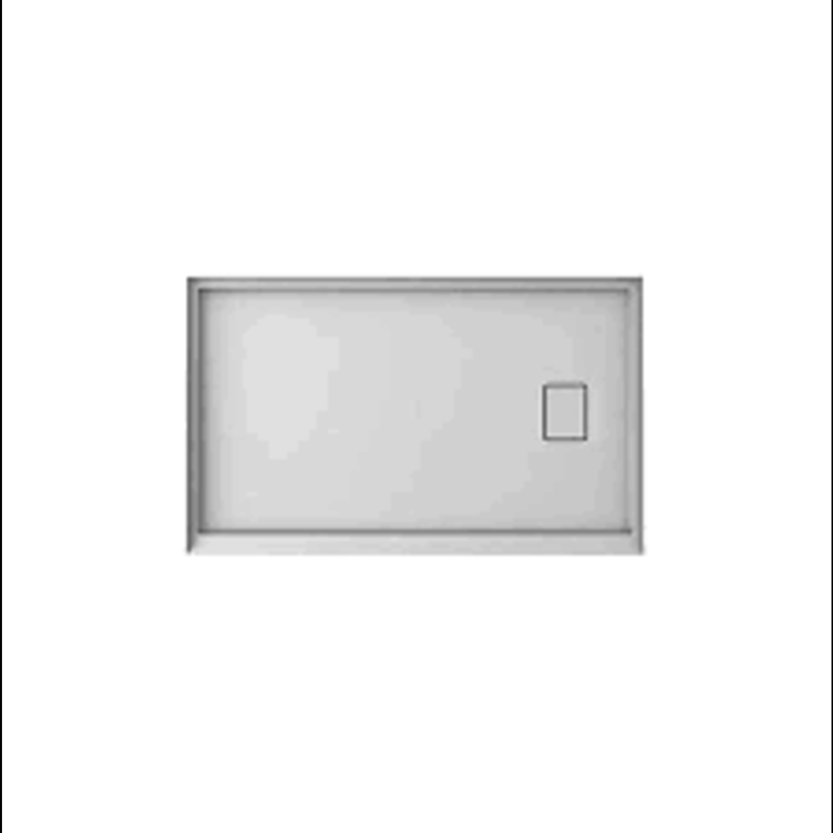 Base de douche 36x60 drain central avec cache drain Installation Universelle CD-78066