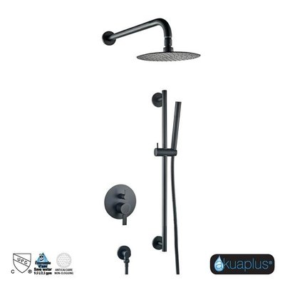Akuaplus Round Black Elite Track Shower Faucet RD-12x030