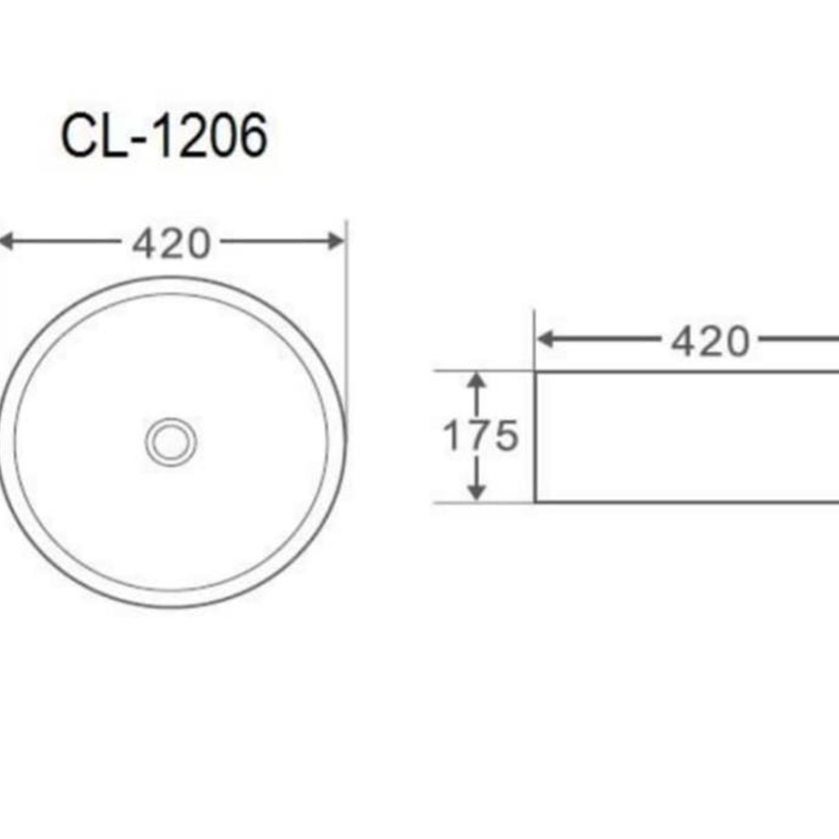 Porcelain sink MI-1206