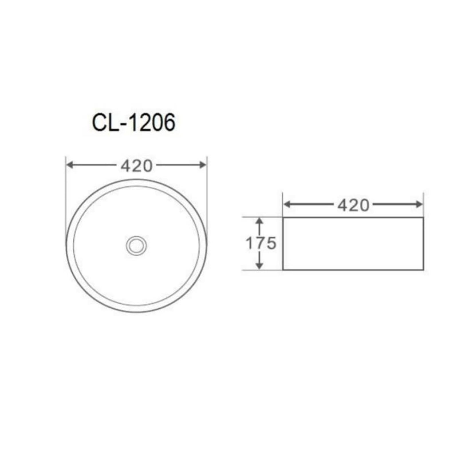 16.5 '' white porcelain sink MI-1206